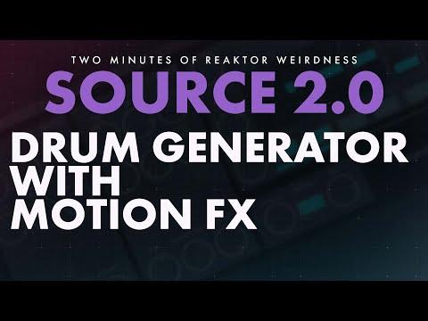 TMORW: SOURCE 2.0 - Drum Sound Generator Reaktor Ensemble