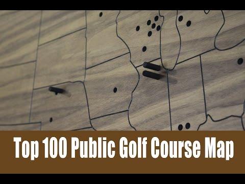 Top 100 Public Golf Course Map