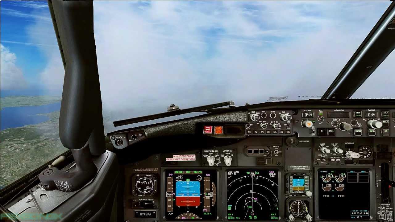 Fsx Hd 1080p Pmdg Boeing 737 Ngx Lfmn Full Flight Cockpit View Youtube