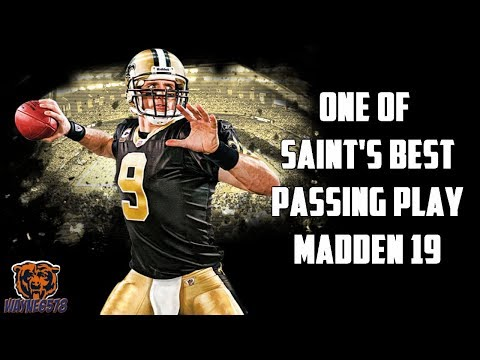 ONE OF THE SAINTS BEST PASSING PLAYS MADDEN 19 | BEST SHORT AND LONG PASS PLAY 🔥