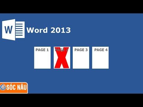 Cách xóa một trang bất kỳ trong Word 2013