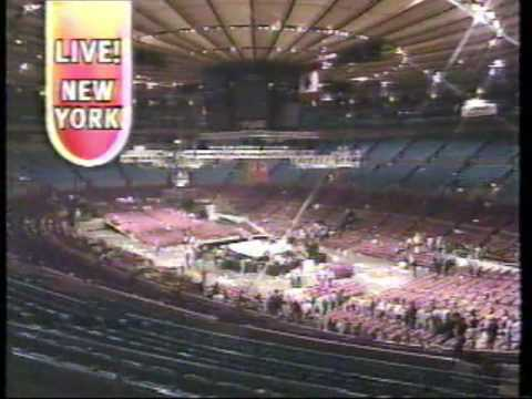 Brian Collard Hosting Live Wwf Summer Slam Remote From Madison Square Garden In New York City