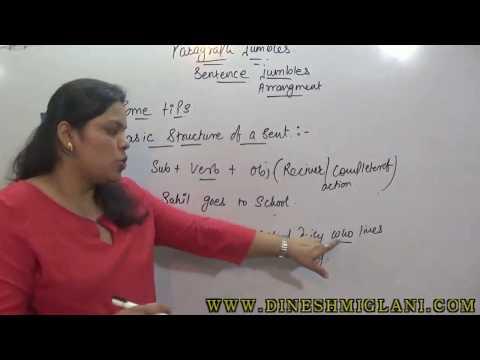 PARA JUMBLES ( ENGLISH) CONCEPT SESSION FOR SSC CAT CLAT IBPS
