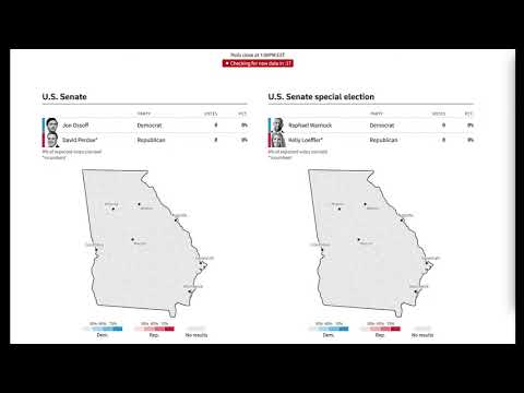 LIVE: Election results roll in for Georgia Senate runoff