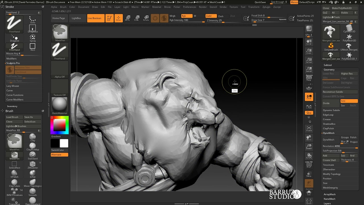 ZBrush 2018: Sculptris Pro a fondo