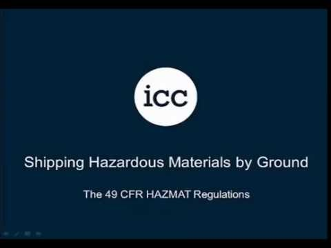 Shipping Hazardous Materials By Ground (US)