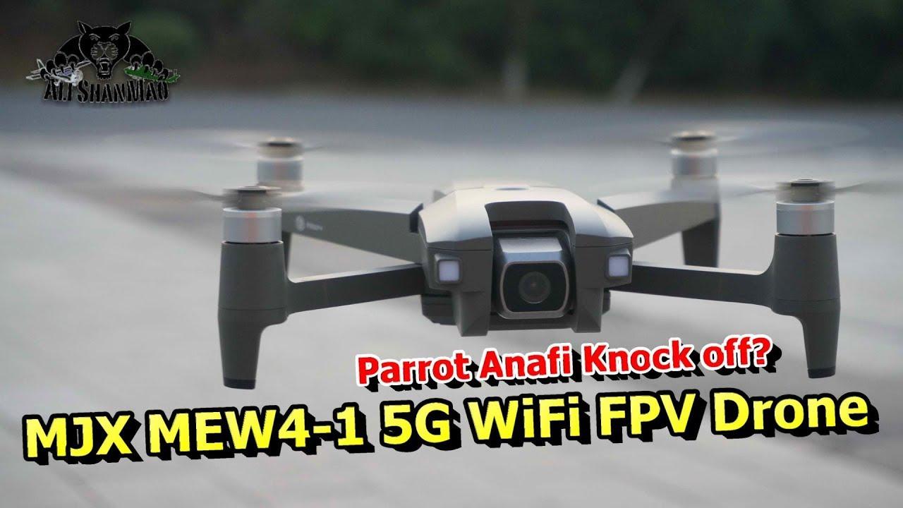 MJX MEW4 1 Parrot Anafi Knock off 5G WiFi FPV Drone Flight