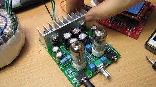 Набор для сборки, гибридный усилитель на LM1875T/6J1