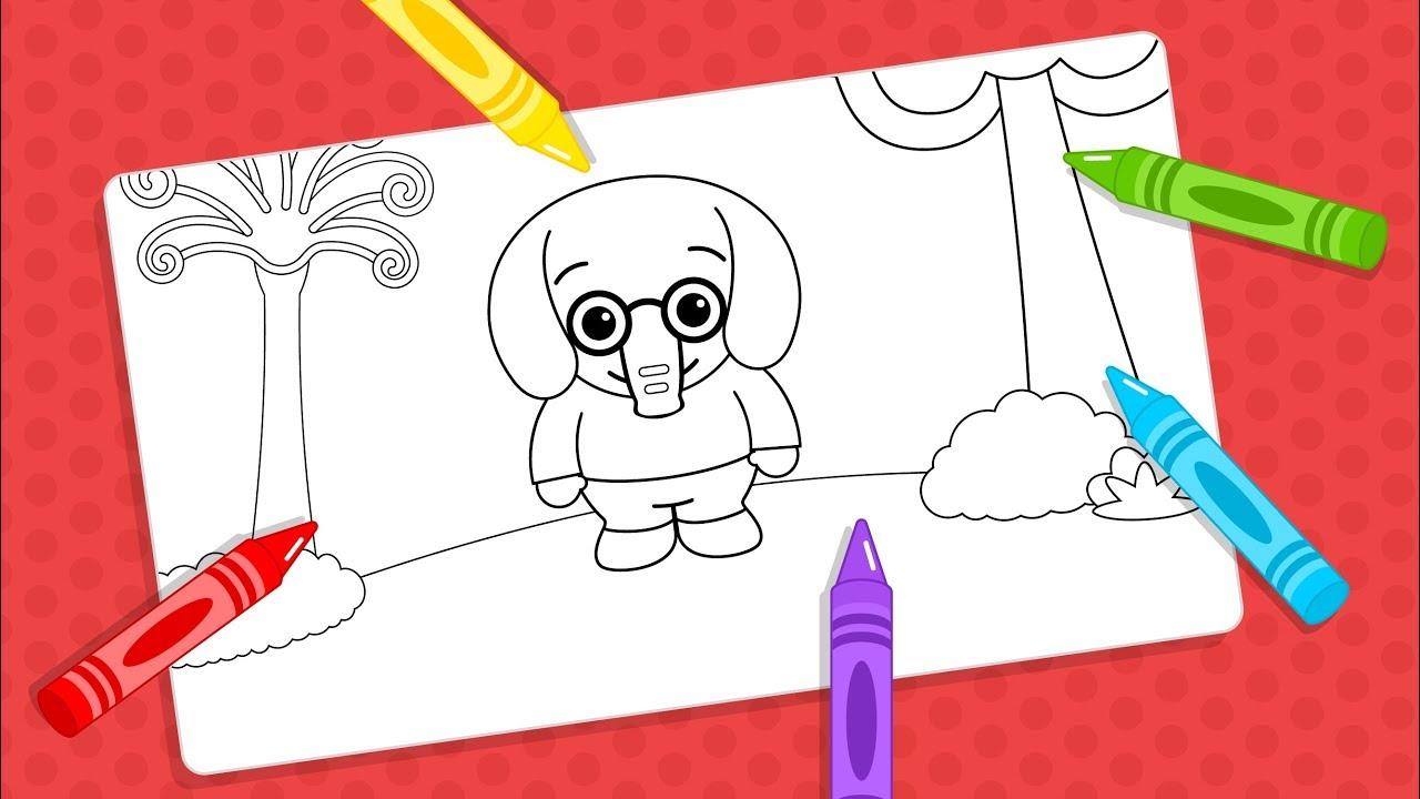 Dibujos Para Aprender A Colorear: Dibujos Para Colorear De Plim Plim #7