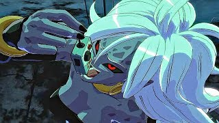 Dragon Ball FighterZ - Android 21 Swallows Remote & Says Gok...