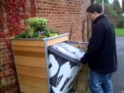 Full Size Wheelie Bin Cover Prototype - YouTube