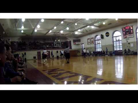 Tarik Phillip puts on a show at Brooklyn College Academy HS Alumni Game