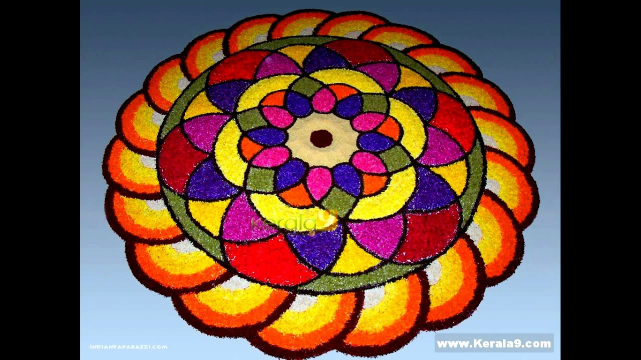 Simple And Beautiful Athapookkalamfloral Carpetdesigns For Competitions