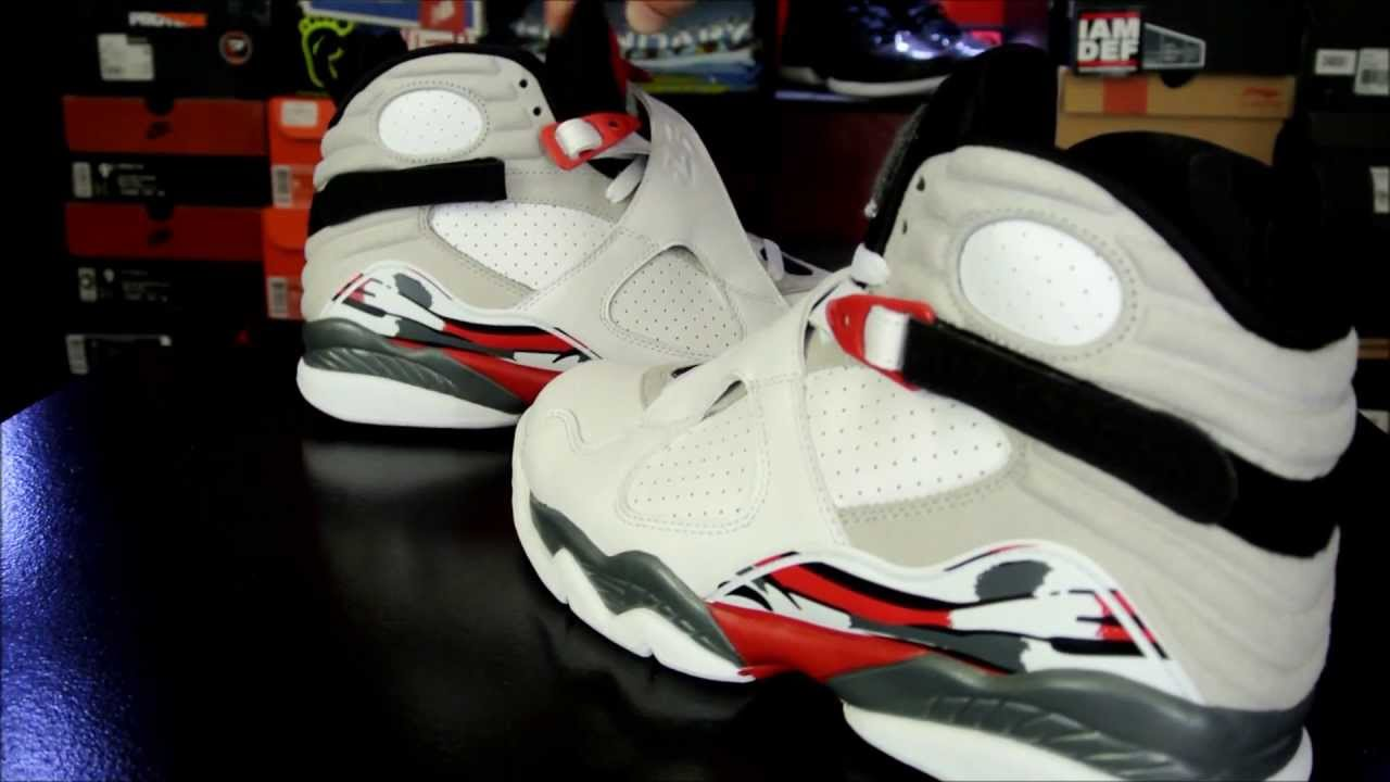 cheap for discount 97881 331ac Air Jordan 8 Retro White  Black- True Red 2013  Bugs Bunny  - YouTube