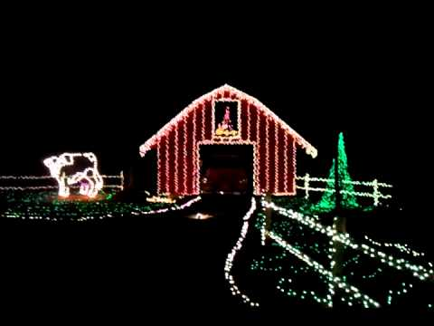 Mike's Farm Christmas Lights Hayride 2011 - YouTube