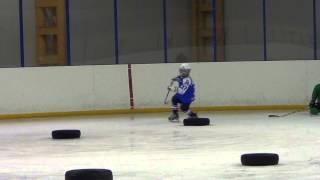 Детский хоккей. 2013-06-07. Берта Валеева #37. Тренировки в межсезонье.