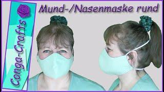 #111 – Mund-Nasenmaske Rundmaske Gesichtsmaske face mask nähen DIY mit Schnittmuster in 3 Größen