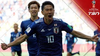 FIRST RED CARD of the World Cup leads to Japan opening the scoring from the spot