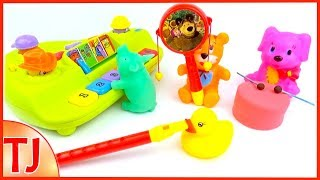 🎹🎷🎼🎸Learn Colors with Play Toys Playing Music Surprise for Kids