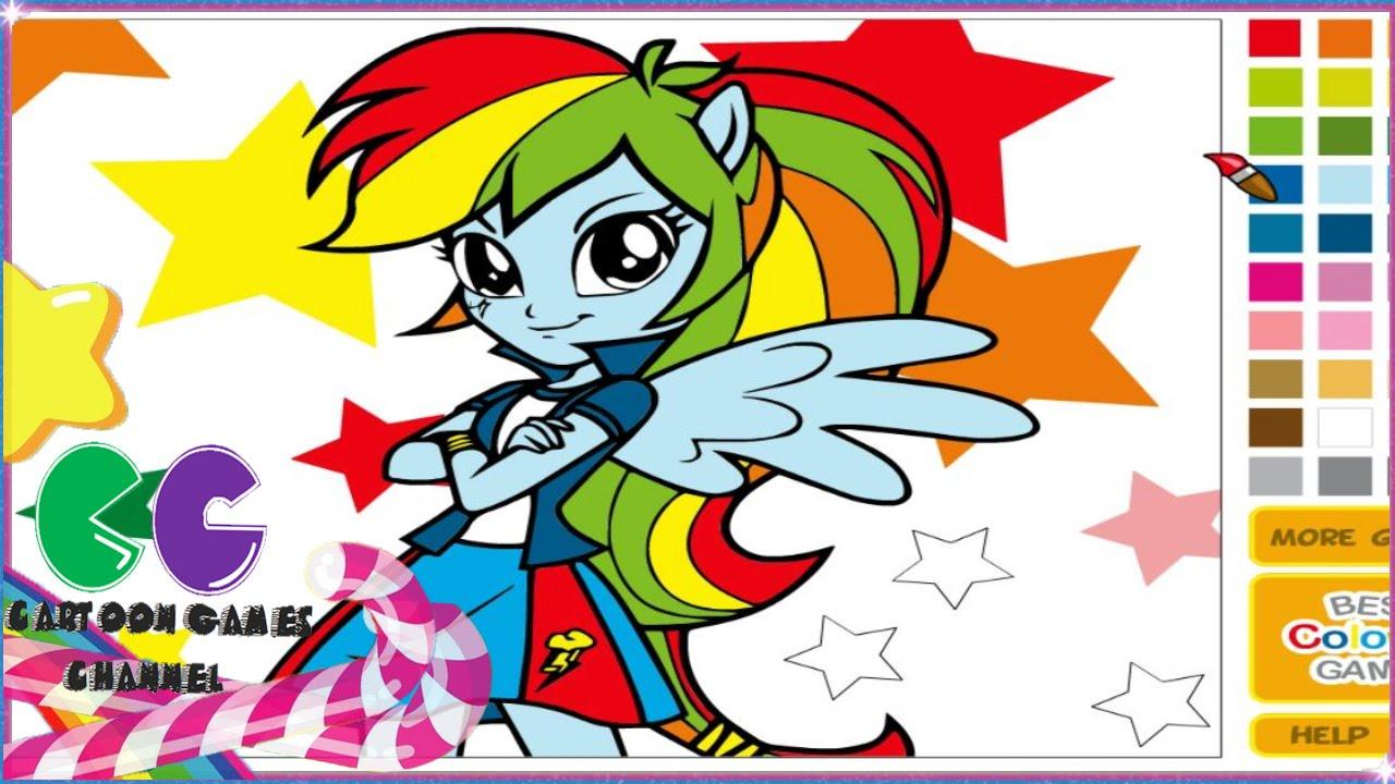 Rainbow Dash Para Colorear Rainbow Dash Equestria Girls Juego