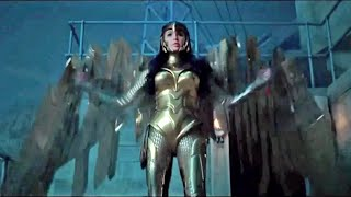 The wonder woman 1984 official teaser trailer has been released at ccxp where we see her wearing golden eagle armor for first time on screen! gal gad...