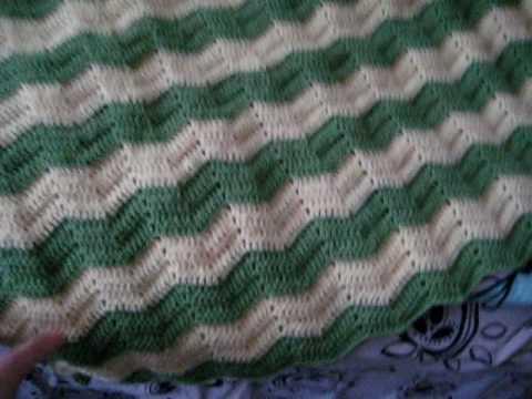 Crochet Zig Zag Baby Blanket Youtube
