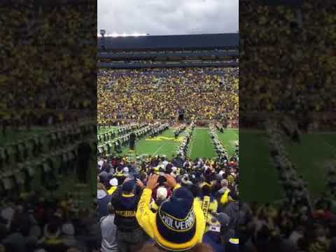 "100,000 people singing ""Hail to the Victors"""