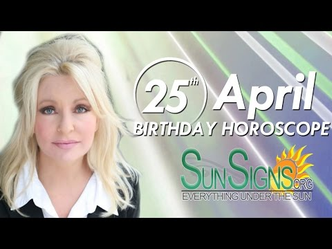 Birthday April 25th Horoscope Personality Zodiac Sign Taurus Astrology