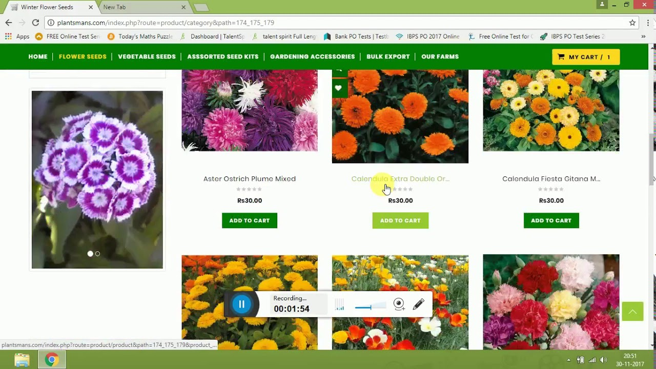 How To Buy Winter Flower Seeds From Website In English Youtube