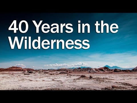 40 Years In The Desert: The Story Of Israel Is Recorded For Our Instruction