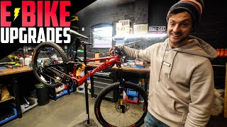 UPGRADING MY E-BIKE WITH SICK NEW PARTS!!