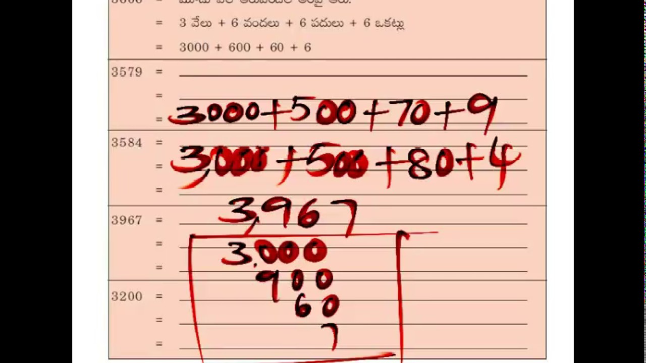 5th Class, Maths, Page No 6, Expanded form of the Numbers upto ...