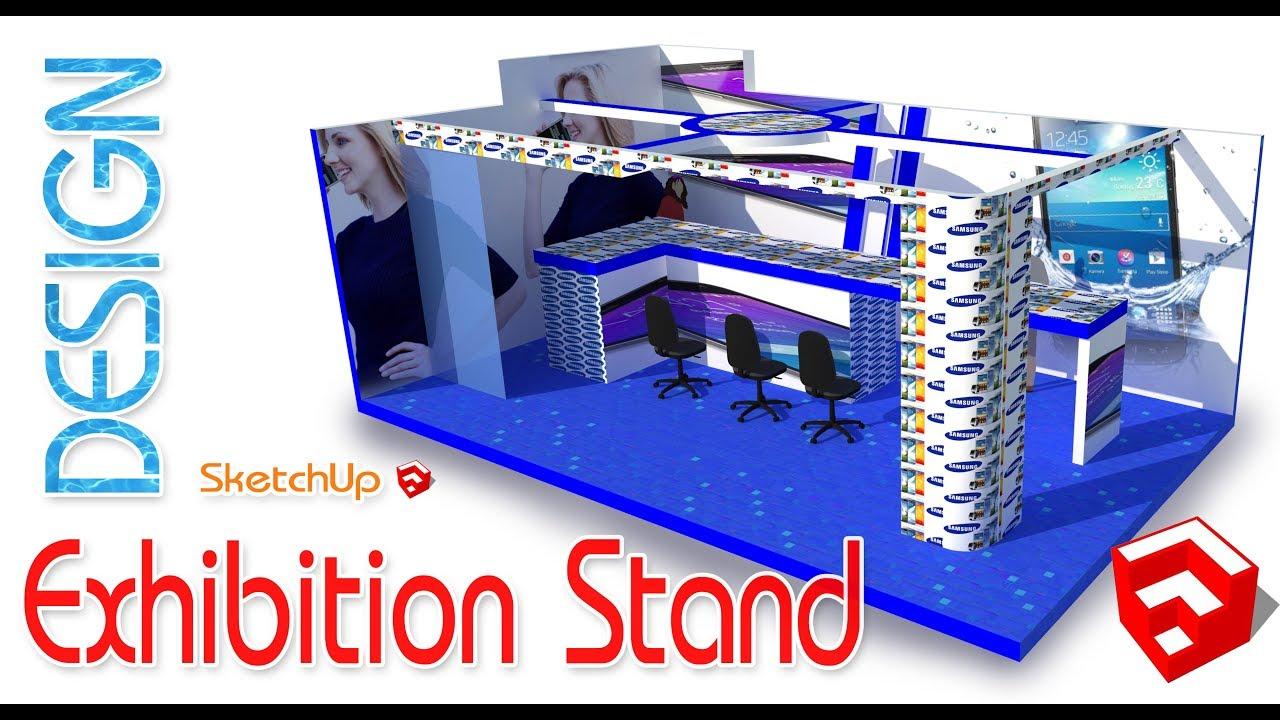 Exhibition Stand Sketchup : Exhibition stand design in sketchup d youtube