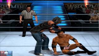 WWE Smack Down vs Raw 2011™ PC gameplay : Rock vs Default (Created Superstar) (via PCSX2 1.1.0)
