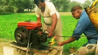 Old Diesel Engine   Tube well   Peetar   Agriculture In Pakistan   Punjab Village
