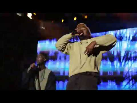 Kid Cudi & Kanye West Performance at Adidas Event