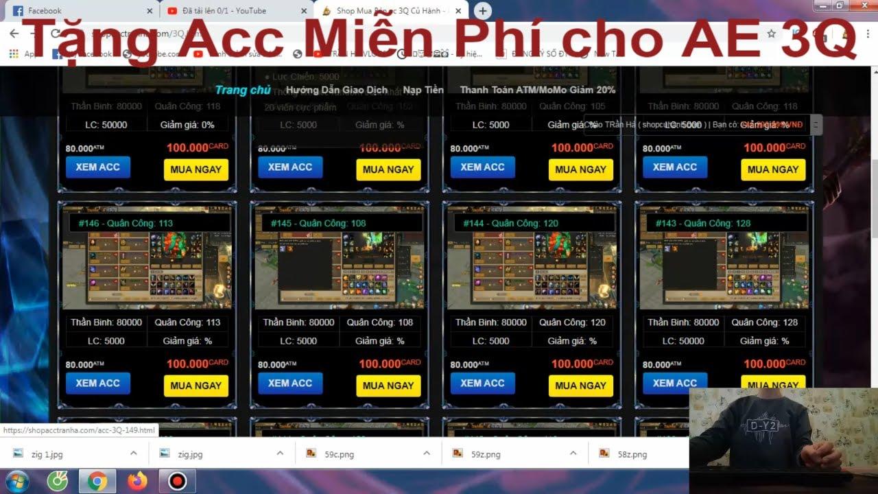 [ 3Q Củ Hành ] | Trần Hà | Tặng Ac Miễn Phí Cho AE … Nhanh Tay !
