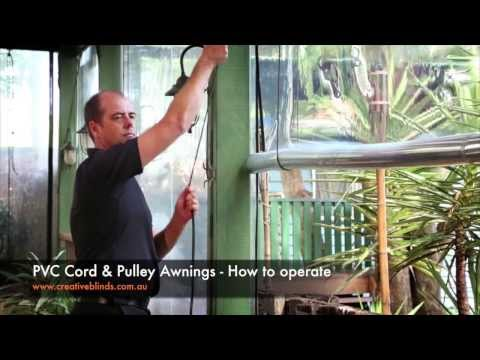 Creative Blinds & Awnings PVC Cord & Pulley Awnings How to operate Eltham Hotel Eltham Lismore