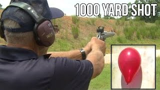 WORLD RECORD 1000 yard shot with a 9mm Hand Gun! | S&W 929 by Jerry Miculek