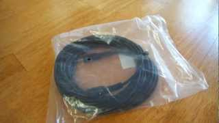 3.5mm M-F 25FT extension cable unboxing/review