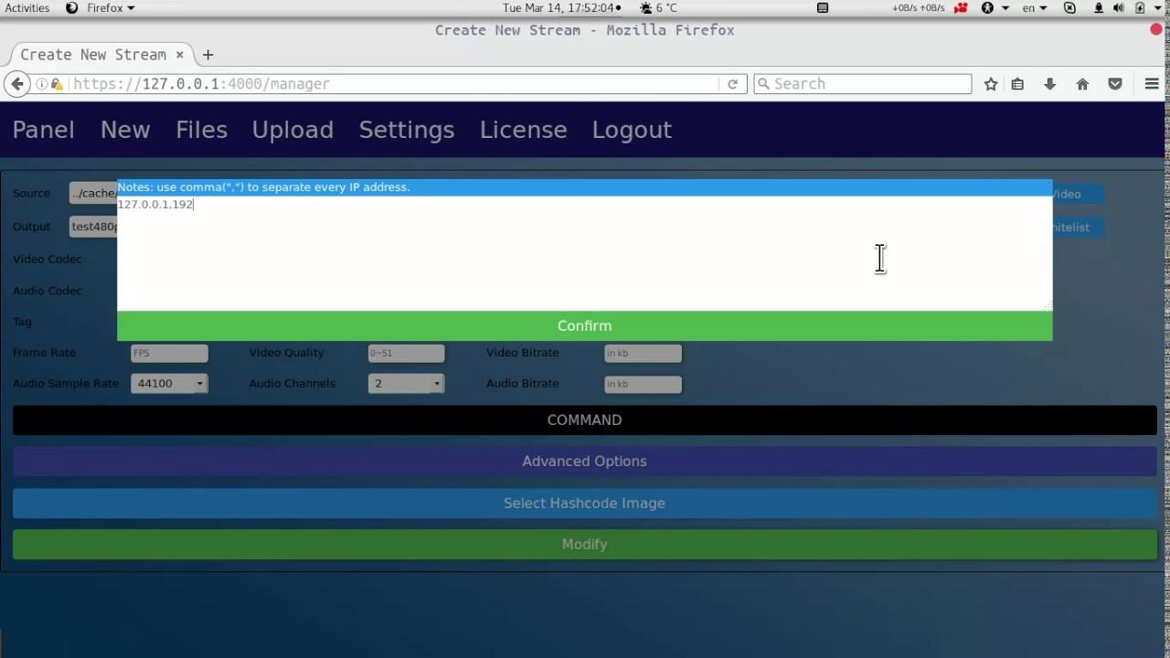 HashCode Remove Pro: Setup HLS Output Stream