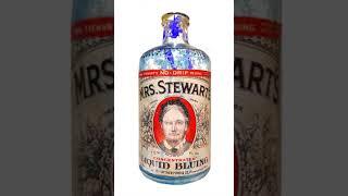 (~_^) INK ANIMATION | ANTIQUE 1941 MRS. STEWART'S BLUING INK GLASS BOTTLE