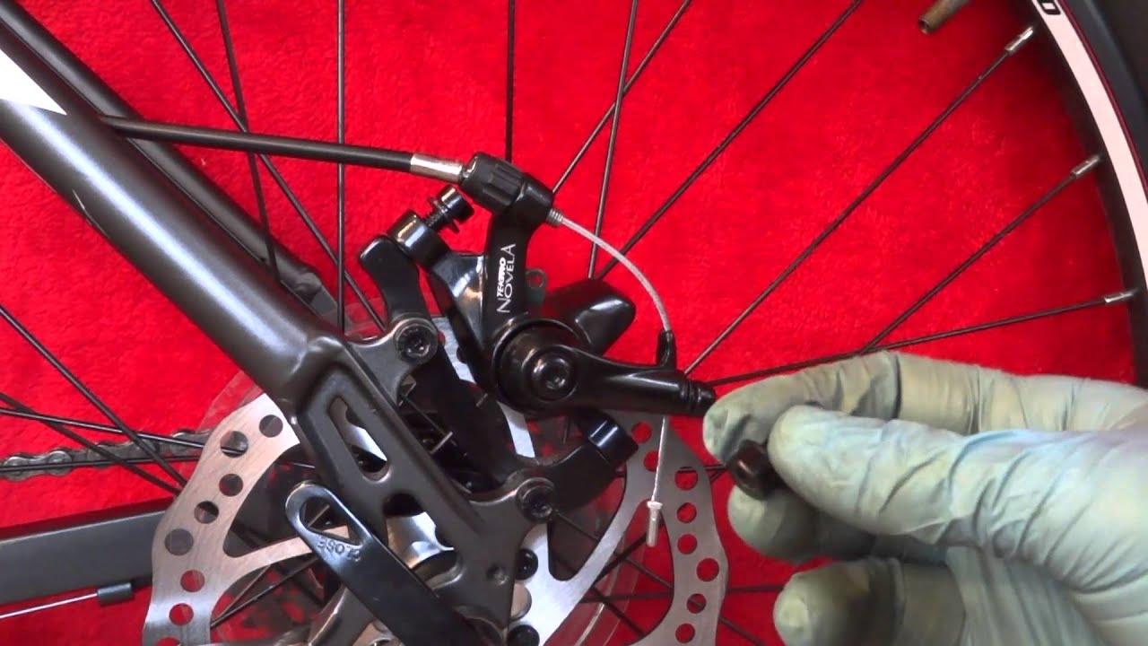 How To Change Brake Pads >> CHANGE FIT TEKTRO NOVELA MECHANICAL BICYCLE BIKE DISC ...