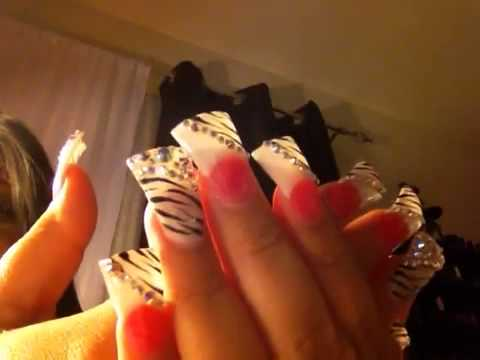 Duck tip nails with zebra print - Duck Tip Nails With Zebra Print - YouTube
