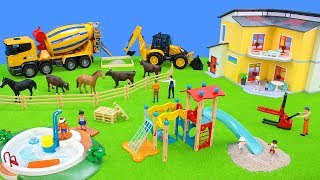 Build your own Playground with Toy Cars, Excavator, Tractor & Bruder Trucks | Best Toys for Kids