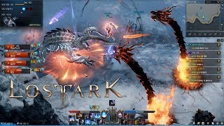 LOST ARK Online - CBT2 Bard Max Level 50 Guardian Raid Regi Oros of Freezing Dungeons Gameplay