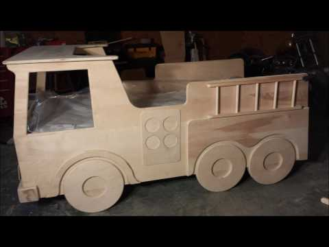 FIRE TRUCK KIDS BED BUILD