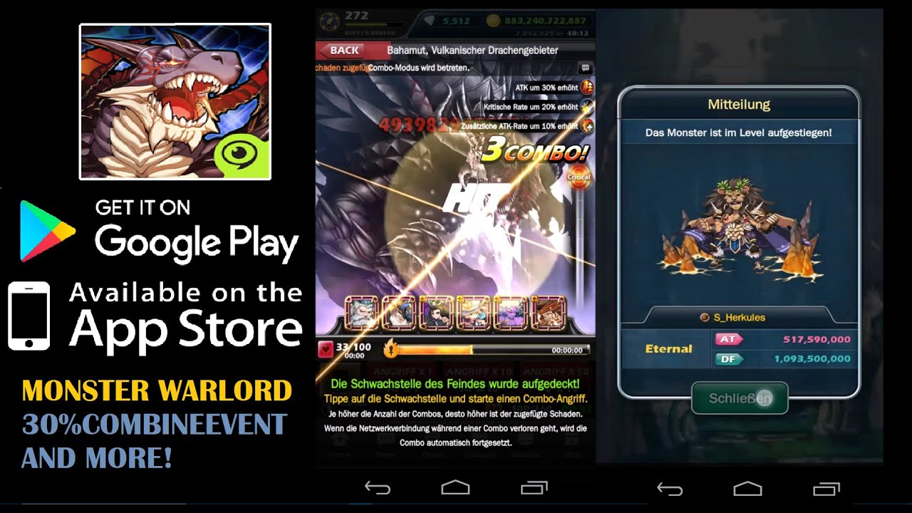 Monster Warlord Gameplay (Level 272) - YouTube