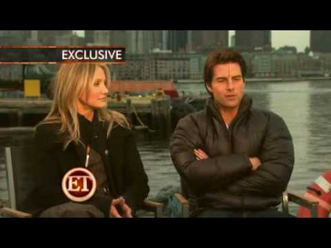 Tom Cruise and Cameron Diaz on the set of Knight and Day ( ET interview)
