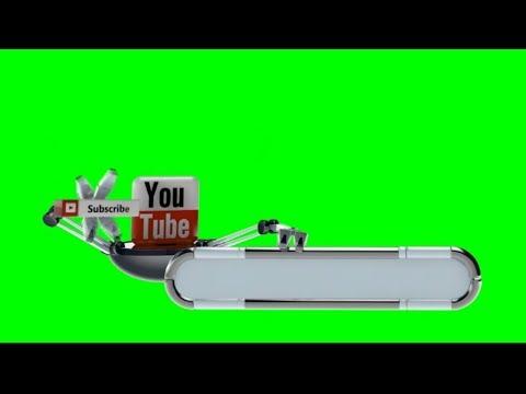 Youtube Logo, Your Chanal Logo In Style Green Screen Hd Vfx Video